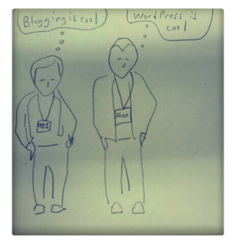 We're at WordPress camp Victoria, thinking about blogging