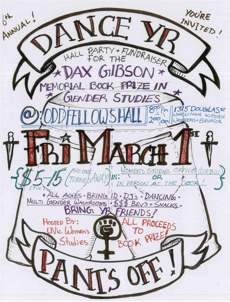 Dax Gibson memorial fundraiser dance poster