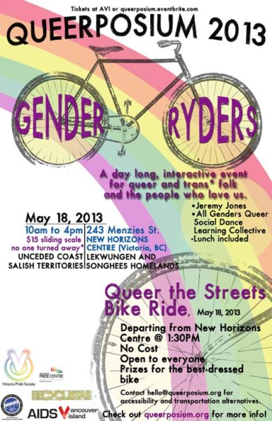 Queerposium 2013 poster: Gender Ryders