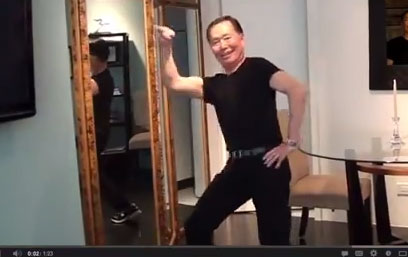 George Takei doing a happy dance