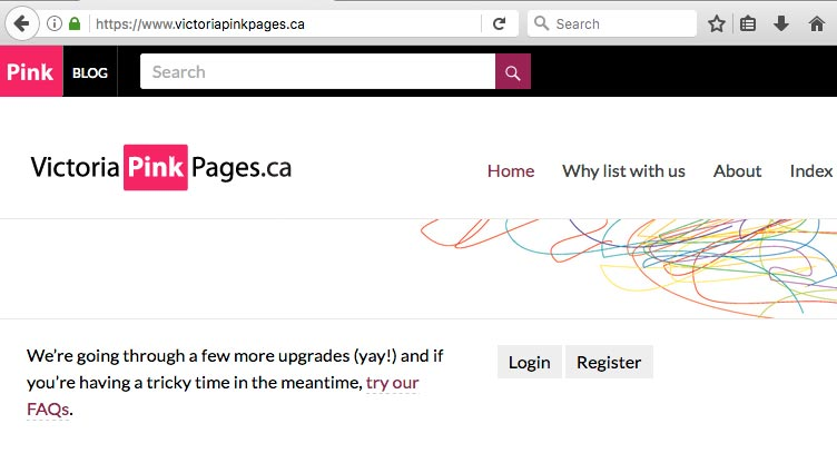 https for the Victoria Pink Pages